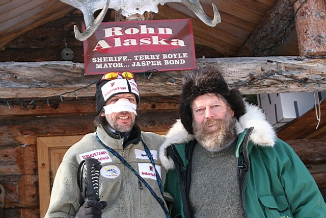 Jasper Bond and Marco Berni at the Rohn checkpoint