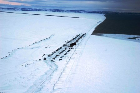 village of Shaktoolik on the coast